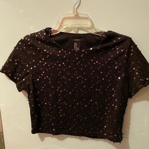 F21 Sequin Crop Top